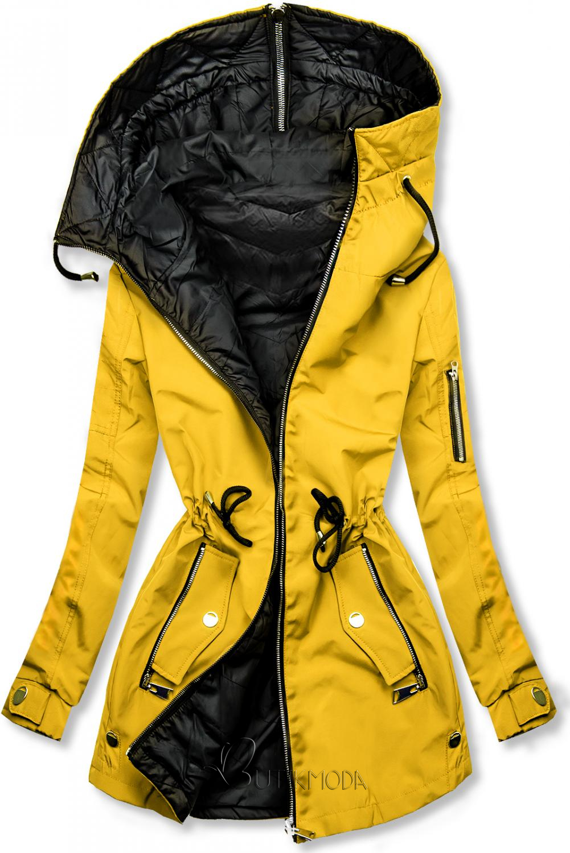 Frühlings-Wendejacke  gelb / schwarz