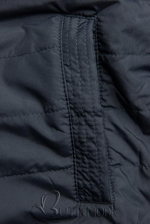 Wende-Parka für Übergagszeit khaki/dunkelblau