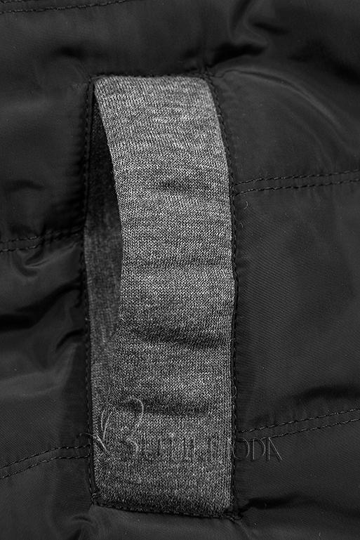 Sportliche Kapuzenjacke grau