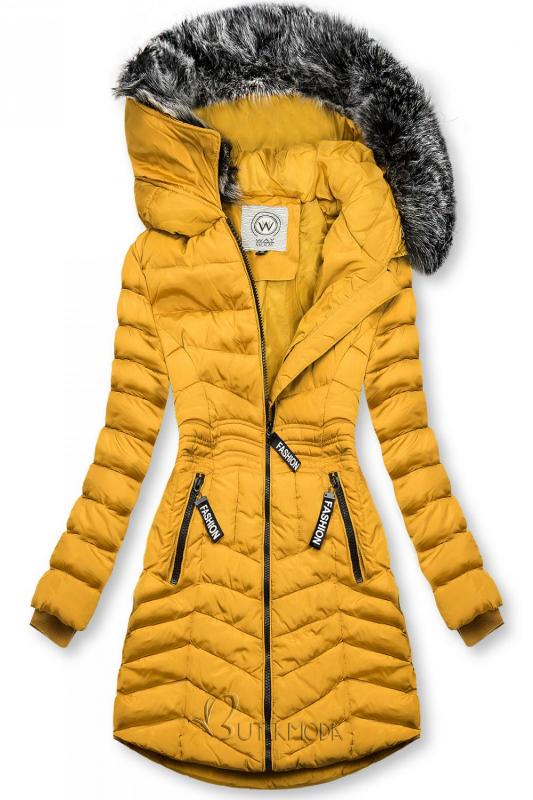 Winter Steppjacke FASHION gelb