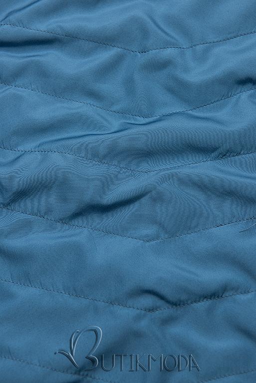 Wendejacke mit Kapuze dunkelblau/hellblau
