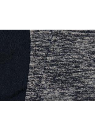Fleecejacke mit Kapuze dunkelblau