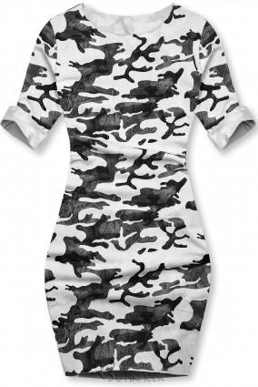 Lässiges Army Kleid weiß