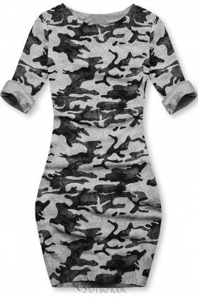 Lässiges Army Kleid grau