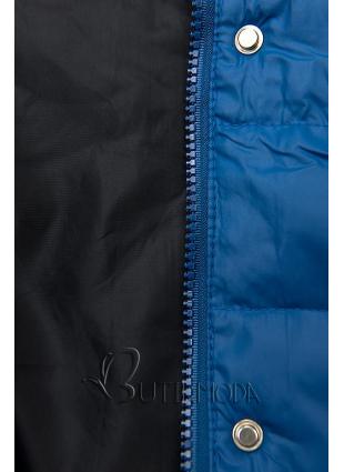 Steppjacke mit abnehmbarer Kapuze blau