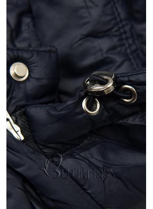 Steppjacke mit abnehmbarer Kapuze dunkelblau