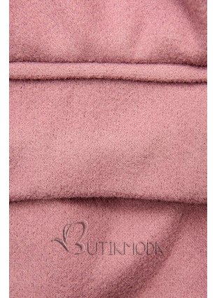 Gefütterter Damenmantel rosa
