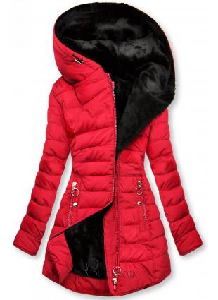 Winter Steppmantel rot/schwarz