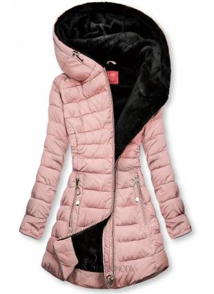 Winter Steppmantel rosa/schwarz
