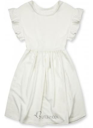 Kleid aus weicher Viskose weiß