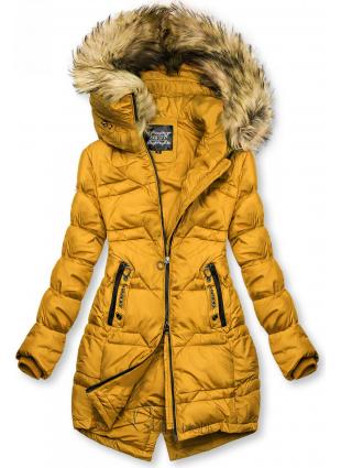 Gesteppte Jacke für Herbst/Winter mustard