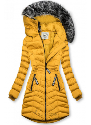 Winter Steppjacke FASHION gelb