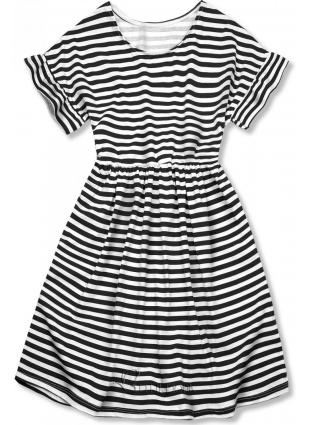 Sommerkleid mit Volants schwarz/weiß II.