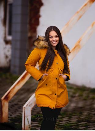 Winter Wendejacke gelb/schwarz