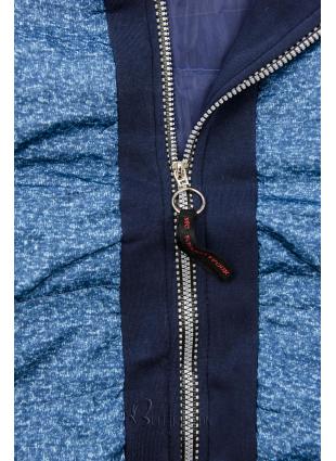 Hybrid Sweatjacke blau