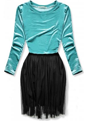 Kleid mit Tüllrock türkis
