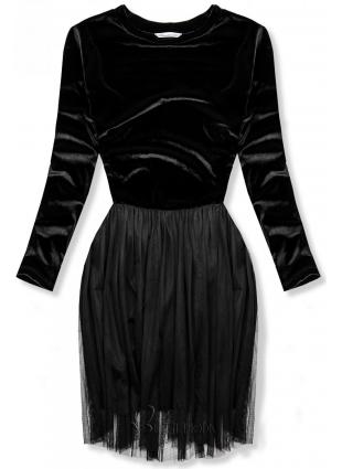 Kleid mit Tüllrock schwarz