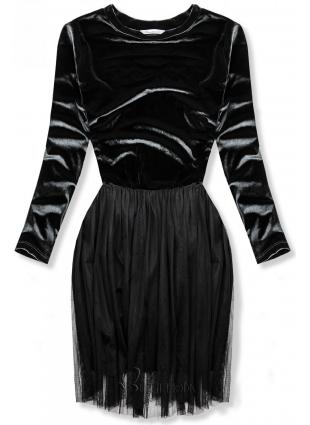 Kleid mit Tüllrock grau