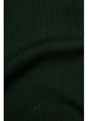 Rollkragenpullover grün