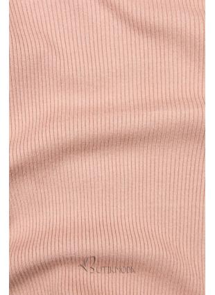 Rollkragenpullover rosa