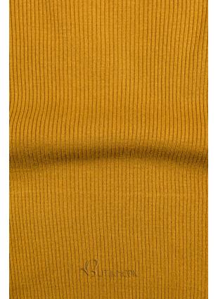 Rollkragenpullover mustard