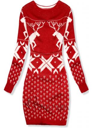 Strickkleid für Winter rot