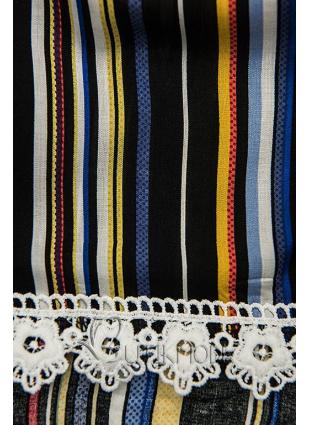 Shorts mit Spitzensaum schwarz