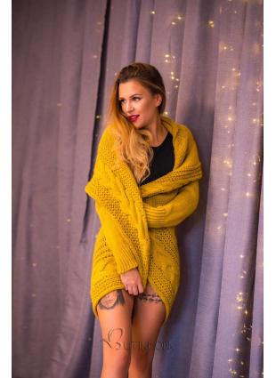 Strickjacke gelb
